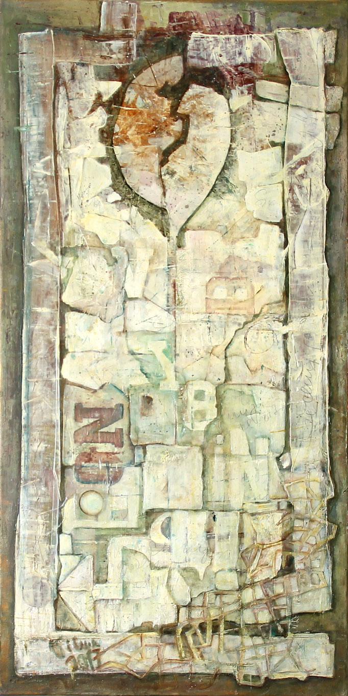 Erinnerung II, Acryl, 50x100