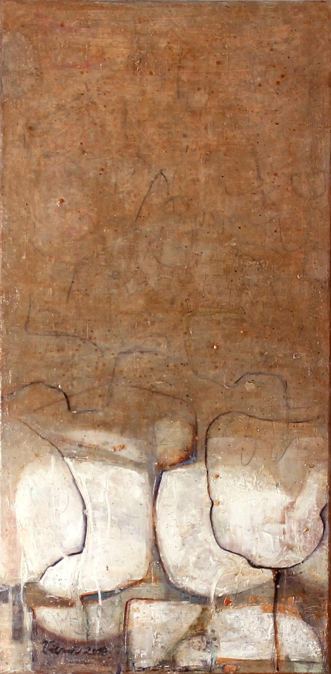 Pusteblumen IV, Acryl, 40x80