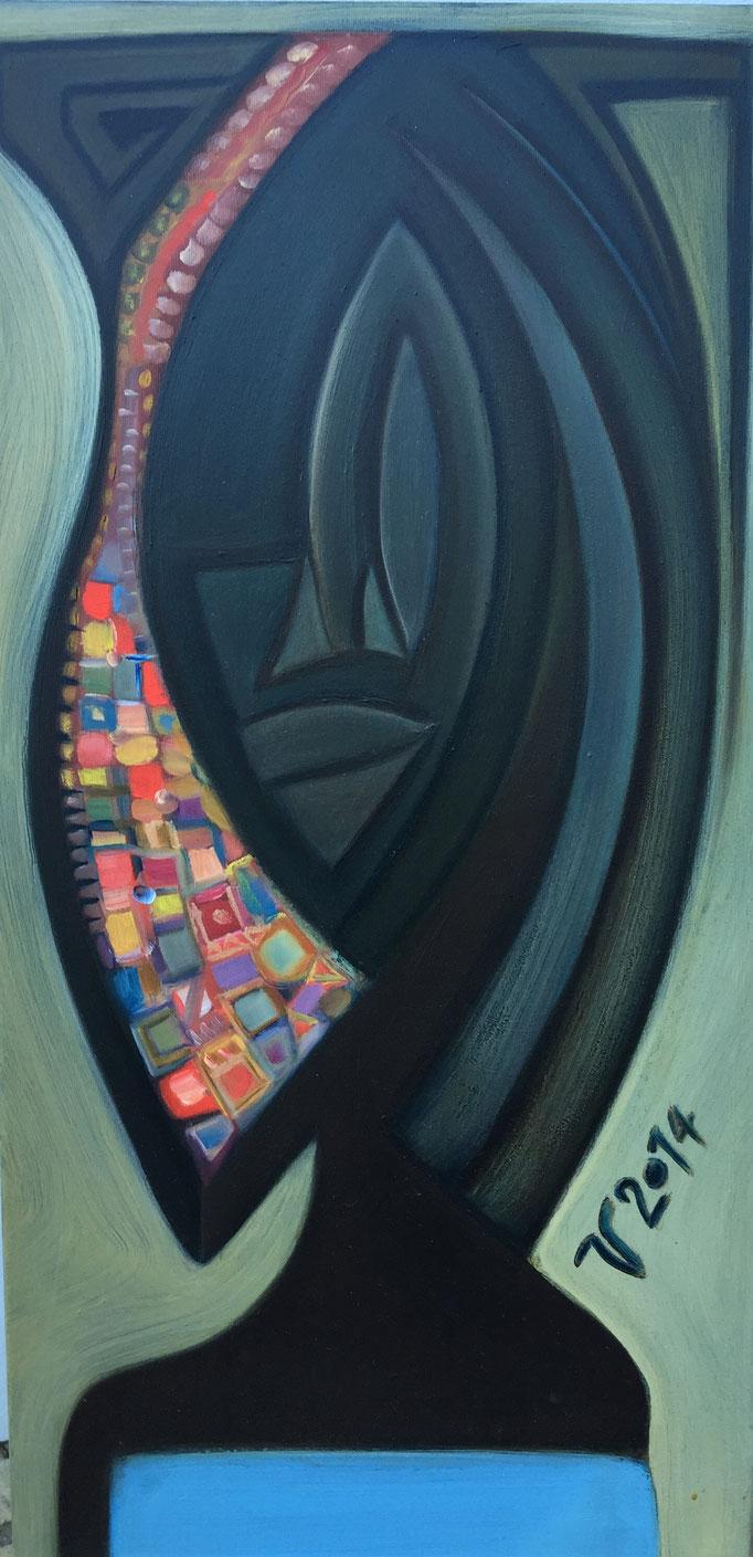 Afrikanerin, Öl, 40x80