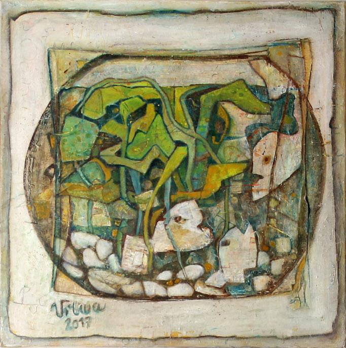 Aquarium, Acryl, 60x60