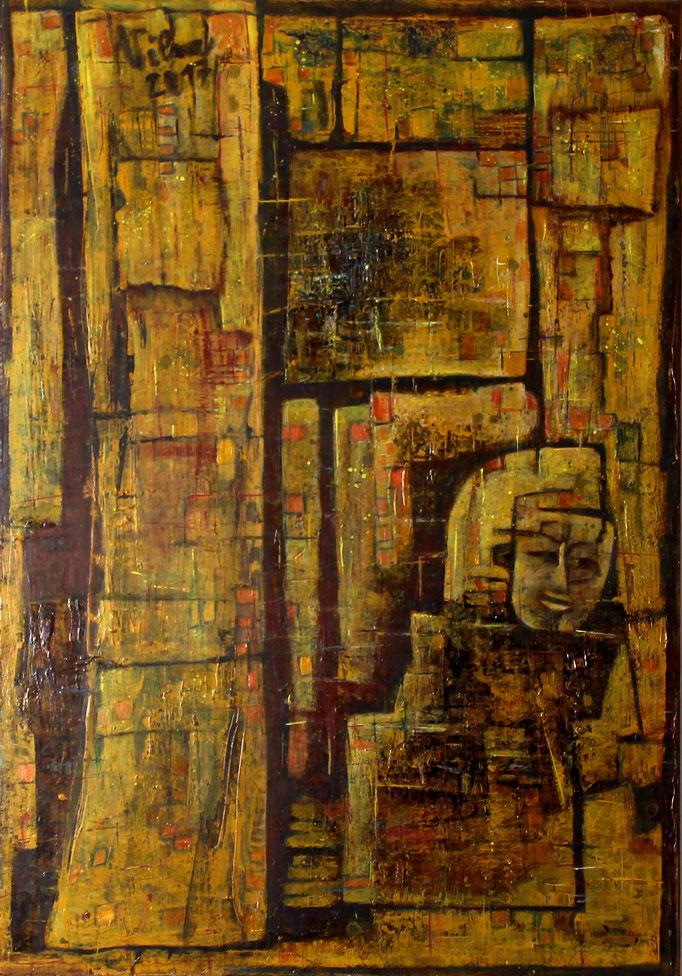 Im Wald, Acryl, 70x100
