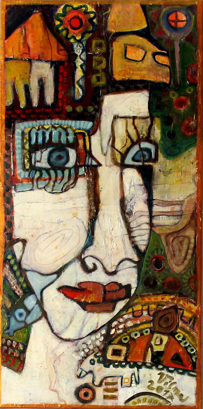 Cher, Mischtechnik, 40x80