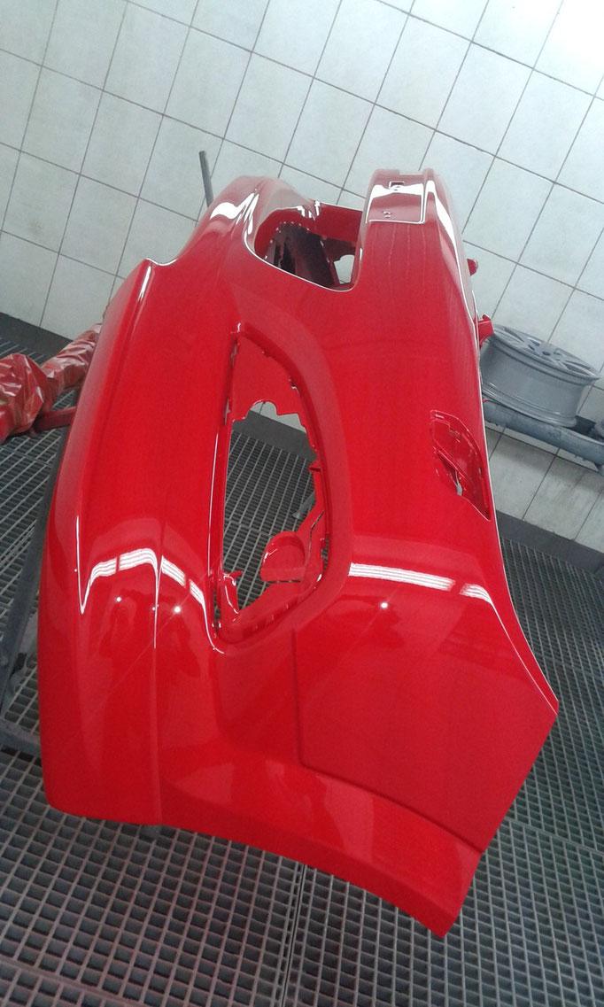 Frontschürzenunterteil nachgerüstet und lackiert