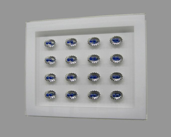 canapé - 14 - Acrylglas, Metall, Glas - 57 x 62 x 6