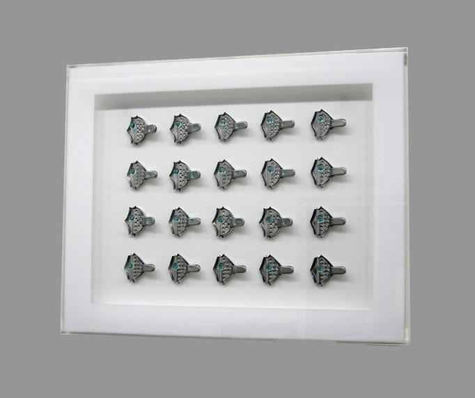 poisson - 14 - Acrylglas, Metall, Glas - 57 x 62 x 6