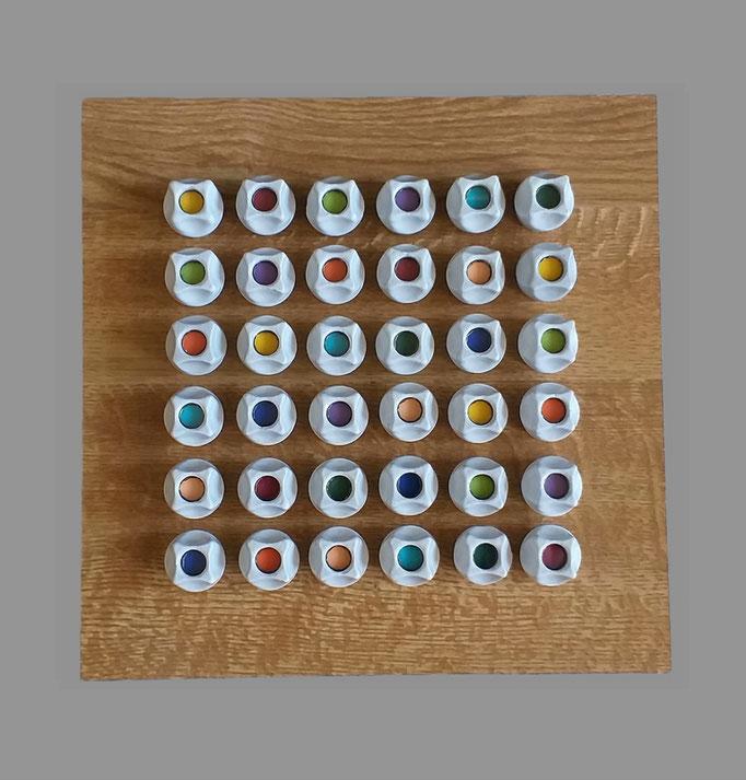 Farbsicherung - 19 - Holz, Glas, Pappe, Kunststoff, Metall, Keramik - 25 x 25 x 6,5