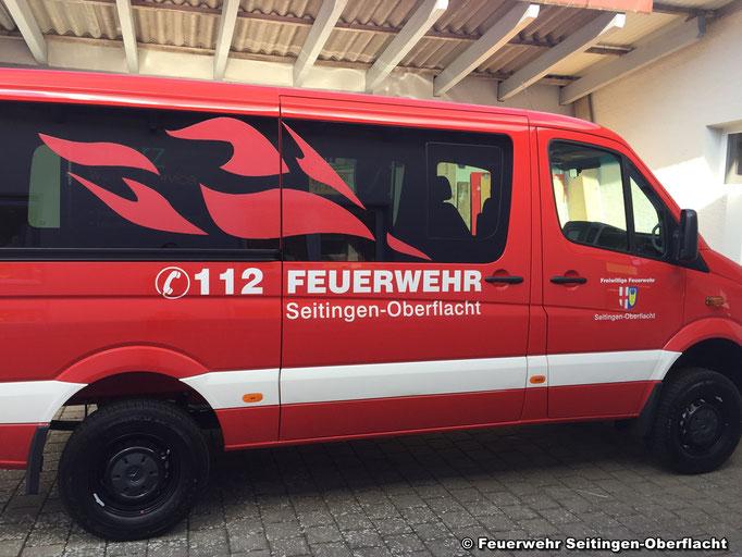 Die charakteristischen Flammen sind auf allen Fahrzeugen der FW Seitingen-Oberflacht zu finden