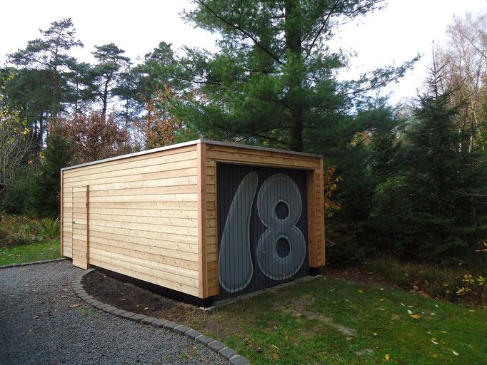 Lärchenholzfassade um eine bestehende Garage