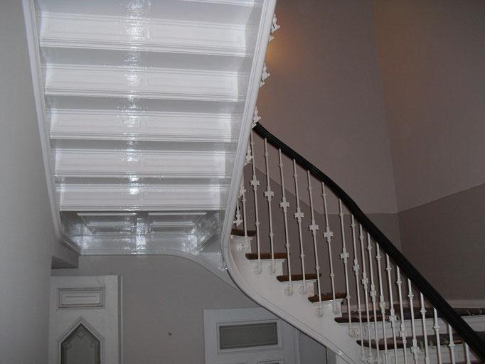 Aufarbeitung einer Treppe Unteransicht