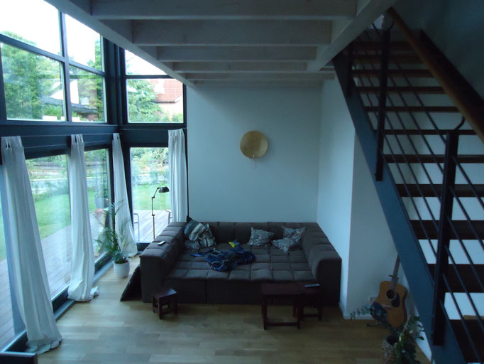 schlüsselfertiger Neubau mit Treppe in Eichenholz / Stahl Komi