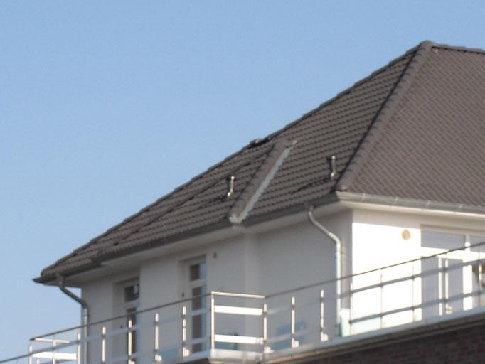 Versprung in der Dachfläche