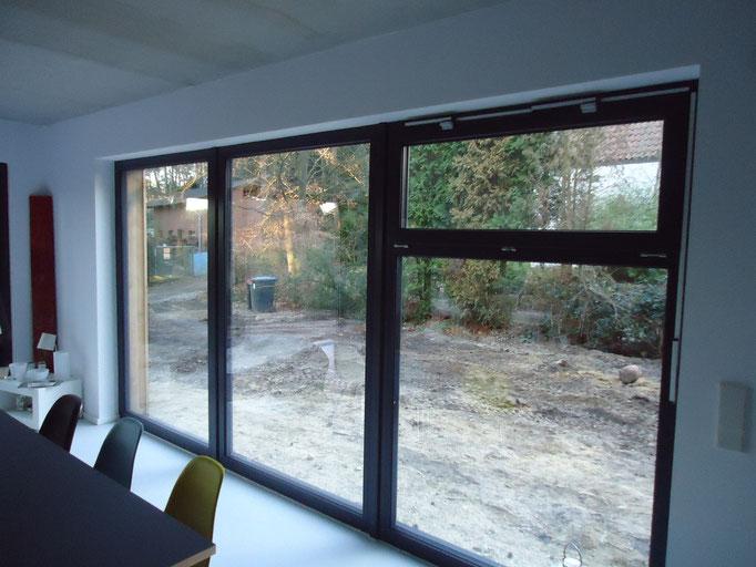 Kunststoff Fenster anthrazit