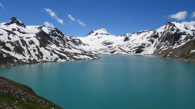 Lago del Sabbione mit Ofenhorn (3.235 m)