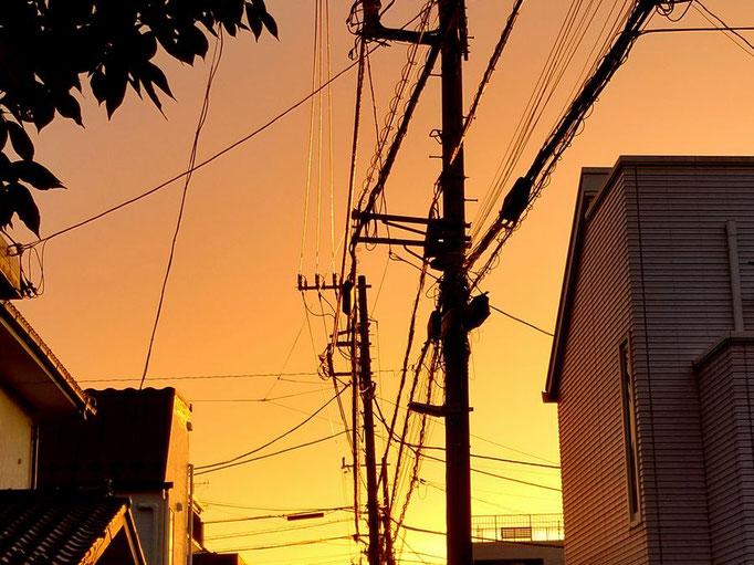 真夏の夕景 by @&@