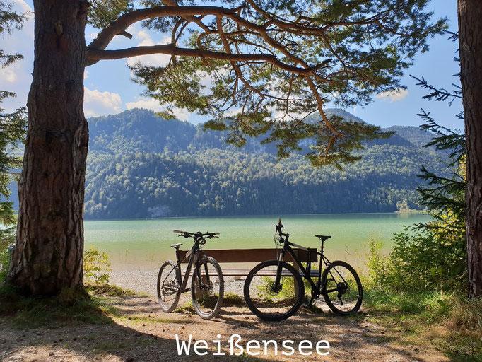 PURE.allgäu bike tour to the weißensee