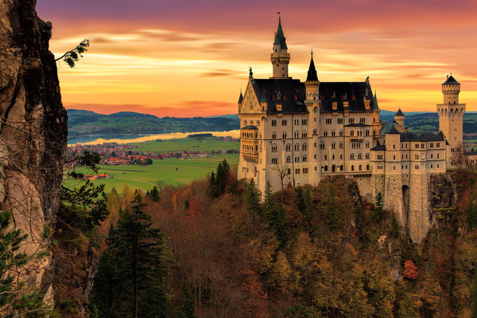 The beautiful Neuschwanstein castle