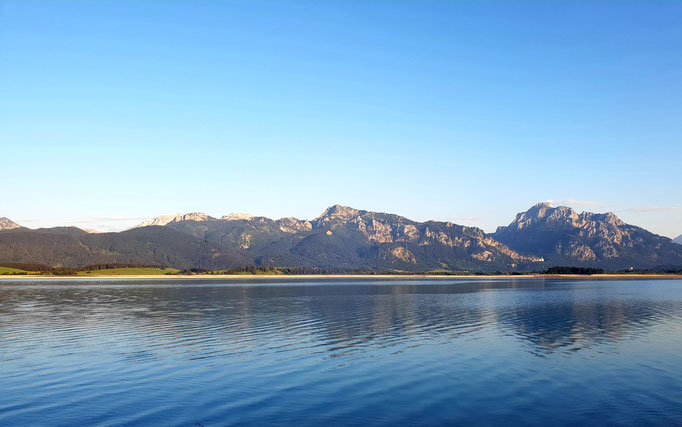 Beautiful view at the Forggensee