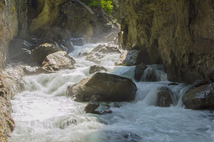 Waterfall at the Partnachklamm Garmisch