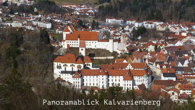 Nice view over Füssen from the Kalvarienberg