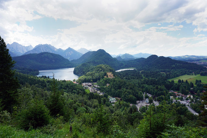 A majestic view of Hohenschwangau