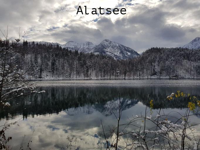 The beautiful Alatsee in Winter