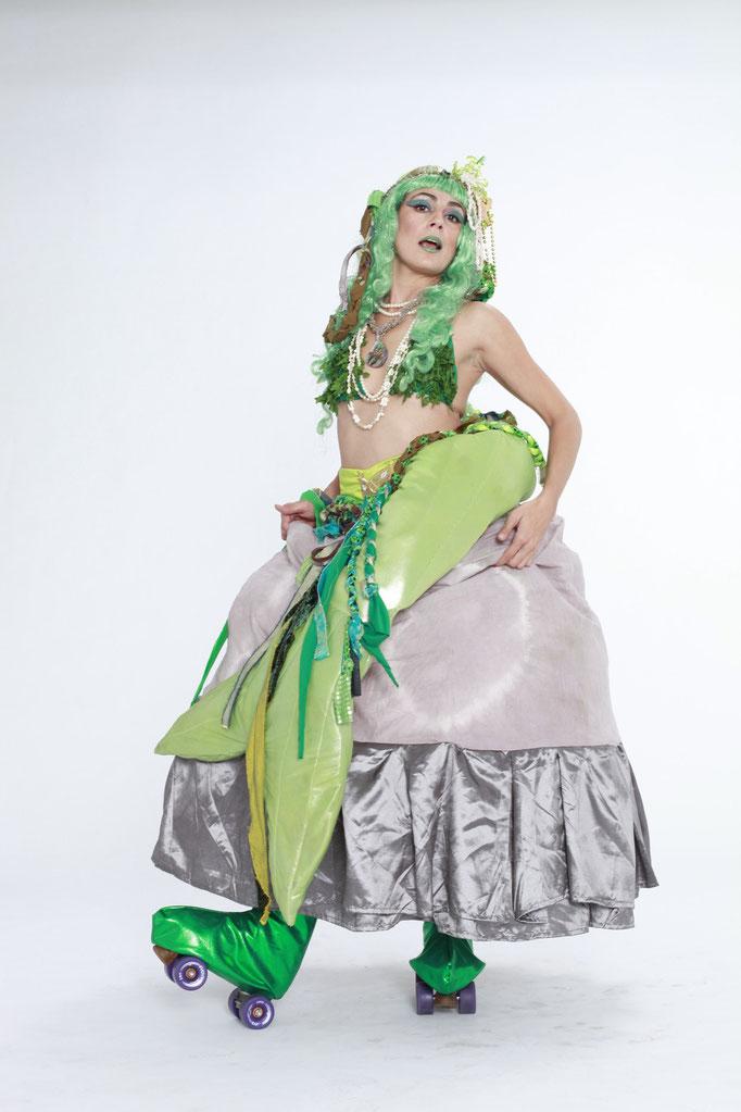 Mermaid on a Rock on Skates!