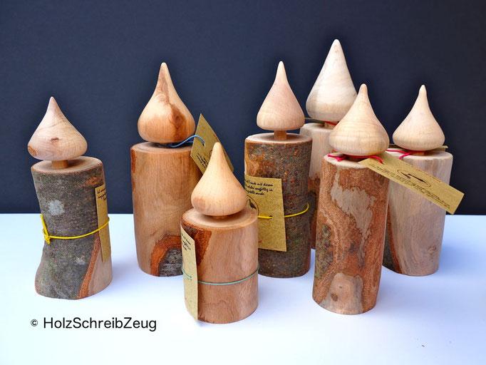 Dekorationskerzen aus Buchenholz