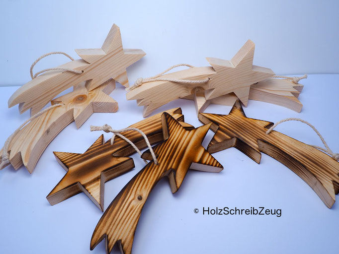 Weihnachtsdekoration aus Buchen-, Lärchen- und Fichtenholz