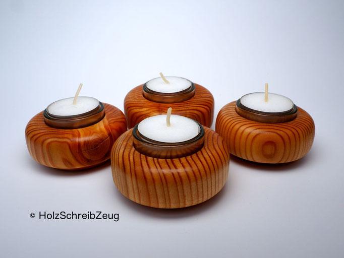 Kerzenhalter aus Lärchenholz