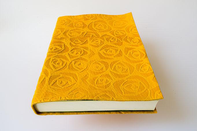 Schreibbuch Hirschleder Blindprägung A 5, 21 x 14 cm, 80.-