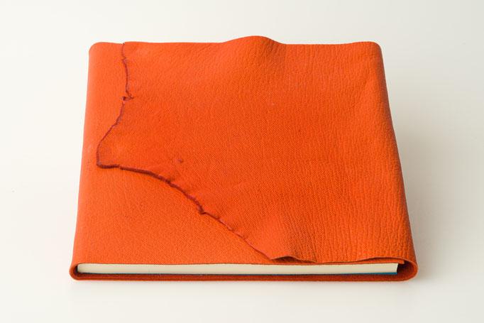 Schreibbuch Hirschleder Naturklappe 21 x 21 cm, 80.-