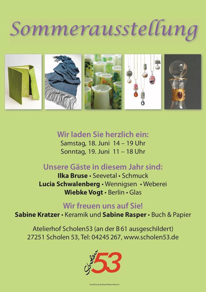 Plakat zur Sommerausstellung 2014