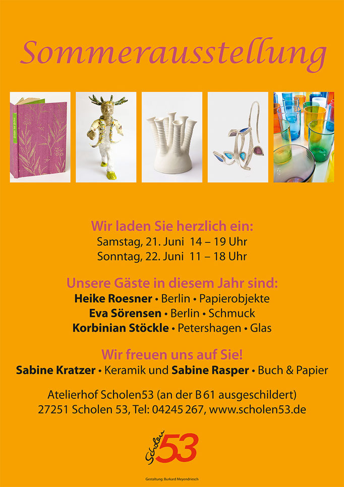 Plakat zur Sommerausstellung 2015