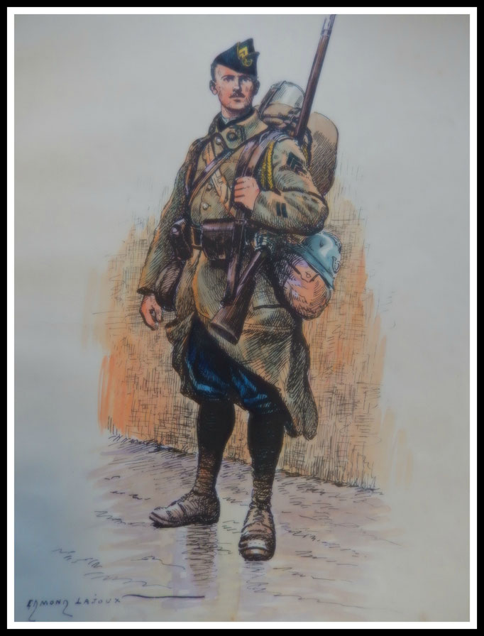 chasseur à pieds Edemond lajoux
