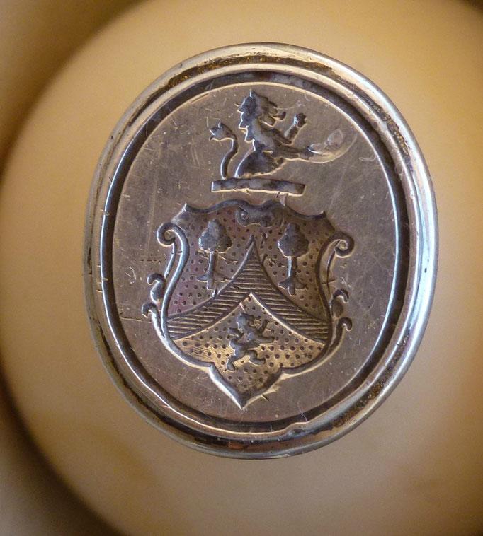 sceau cachet de cire armoirié