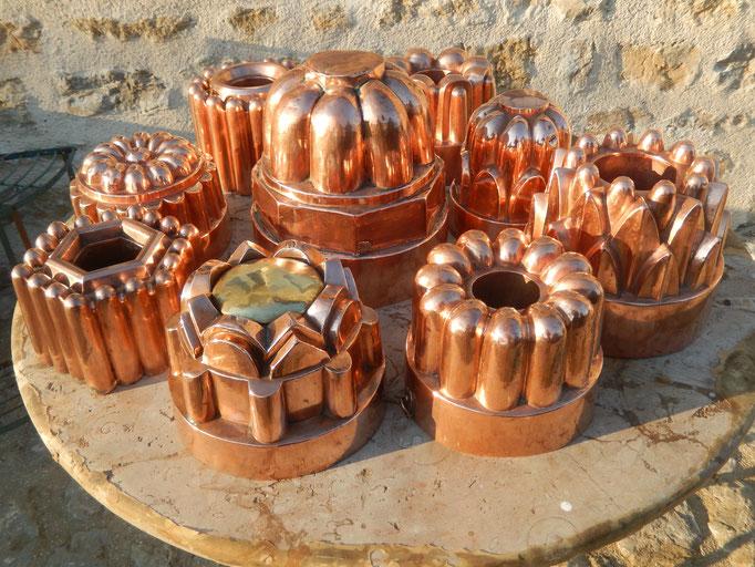 moule à gâteaux cuivre