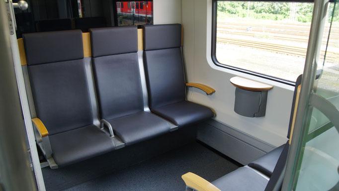 Die Sitze der ersten Klasse