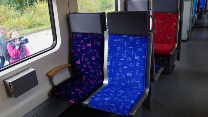 Die neuen Sitze der zweiten Klasse