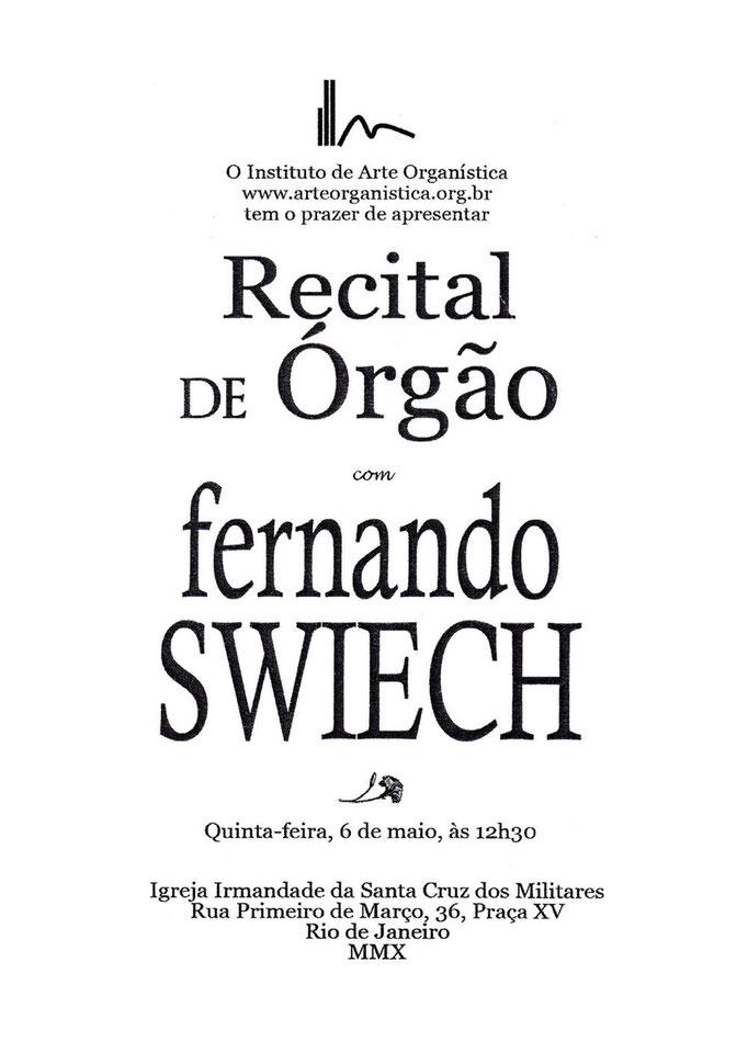 Orgel Konzert Rio de Janeiro