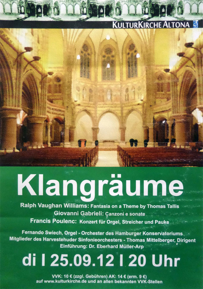 Konzert Orgel und Streicher Poulenc