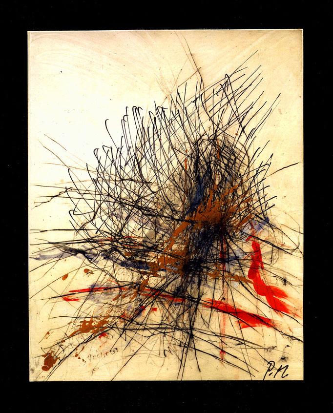 Pedro Meier Multimedia Artist – »Übermalung Nr. 28« – Mixed Media – Adaptionen – Acryl/chinesische Tusche auf Papier auf Leinwand – 40×30 cm – 2015 – Foto © Pedro Meier/ProLitteris