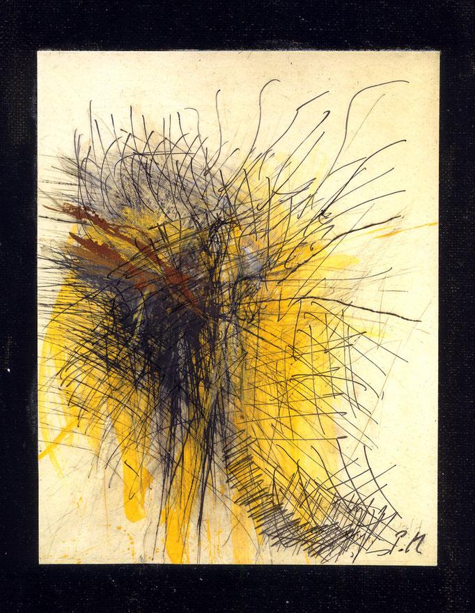 Pedro Meier Multimedia Artist – »Übermalung Nr. 37« – Mixed Media – Adaptionen – Acryl/chinesische Tusche auf Papier auf Leinwand – 40×30 cm – 2015 – Foto © Pedro Meier/ProLitteris