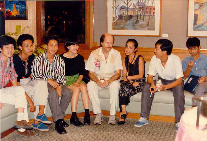 Pedro Meier Exhibition Grand opening – Narai Gallery Silom Road 1986 – Opening speech by André Regli – Embassy of Switzerland in Bangkok – Minister of Culture – Pedro Meier Swiss-German multimedia artist – Niederbipp – Thai Artist friends – Bangkok Post 1