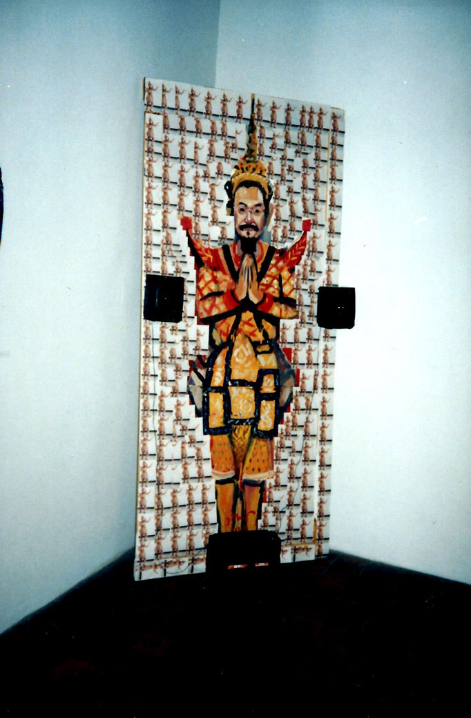 Pedro Meier Multimedia Artist wih Vasan Sitthiket Thai contemporary visual artist – National Art Museum – Faculty of Arts, Silpakorn University Bangkok – Photo around 1983 © Pedro Meier/ProLitteris