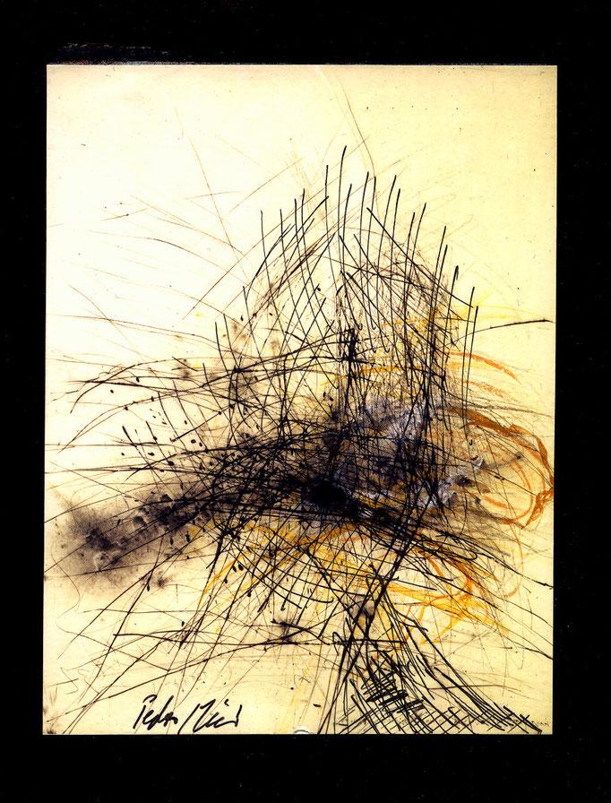 Pedro Meier Multimedia Artist – »Übermalung Nr. 35« – Mixed Media – Adaptionen – Acryl, chinesische Tusche auf Papier auf Leinwand – 40×30 cm – 2015 – Foto © Pedro Meier, ProLitteris