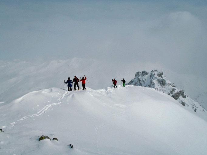 Aufstieg zur Fernerspitze (2.954 m).