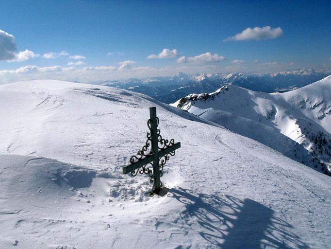 Am Gipfel der Eckwand (2.221 m).