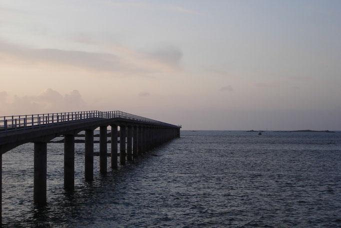 L'embarcadère pour Batz à marée basse