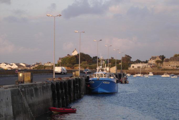 L'embarcadère pour Batz à marée haute