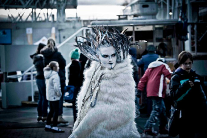 """Ice Queen"" Costume Design By Fiya Bruxa. Harbourfront Toronto"